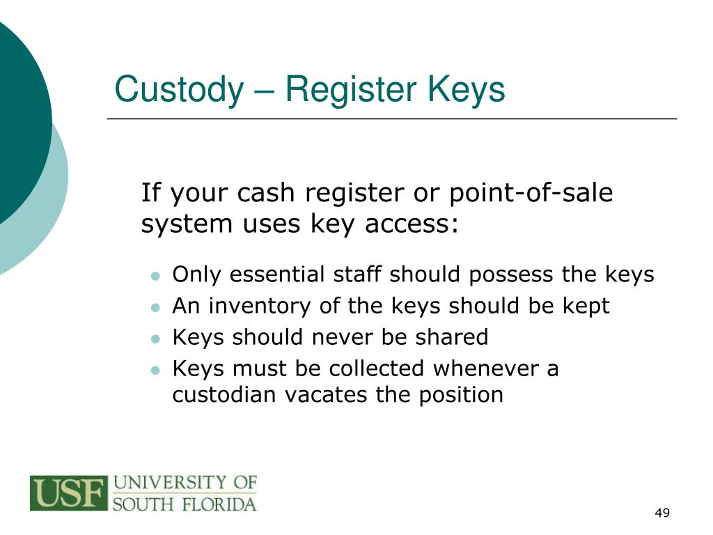 Custody – Register Keys