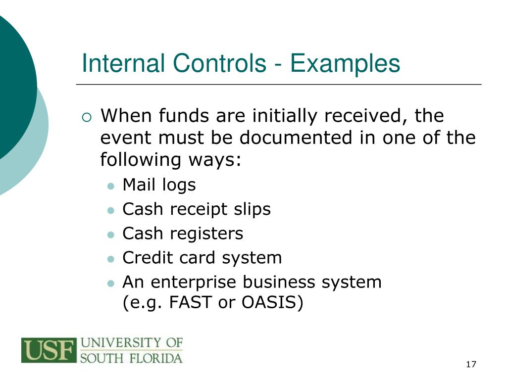 Internal Controls - Examples