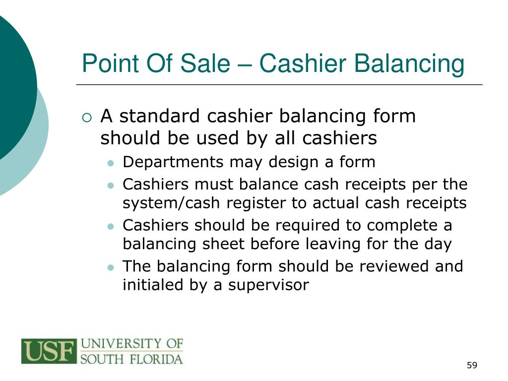 Point Of Sale – Cashier Balancing
