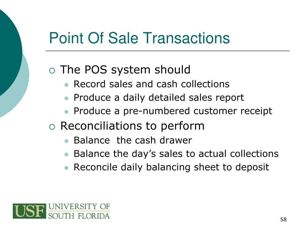 Point Of Sale Transactions
