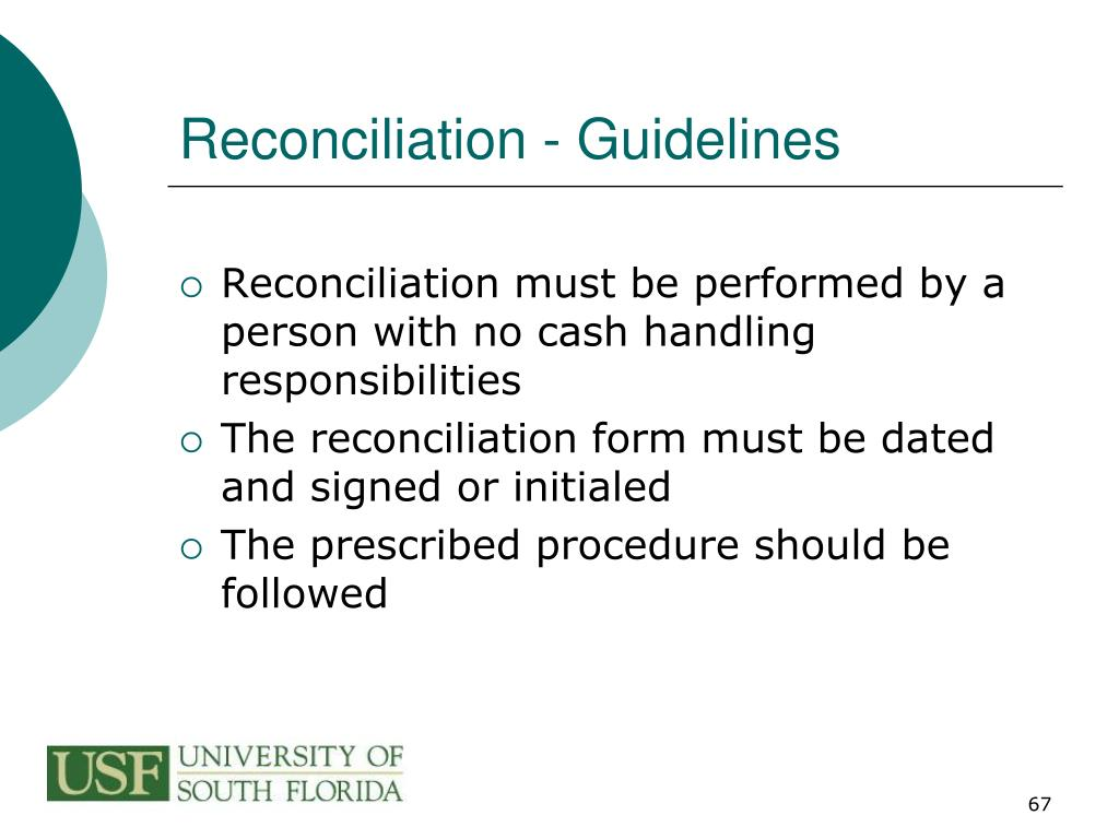 Reconciliation - Guidelines