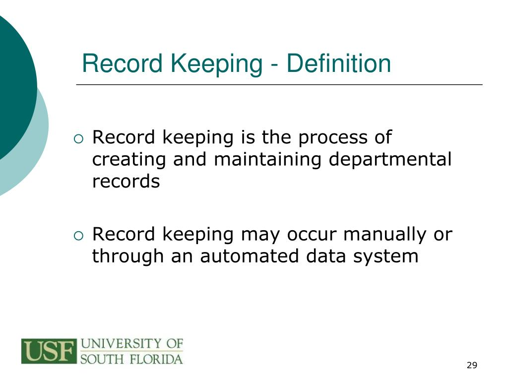 Record Keeping - Definition