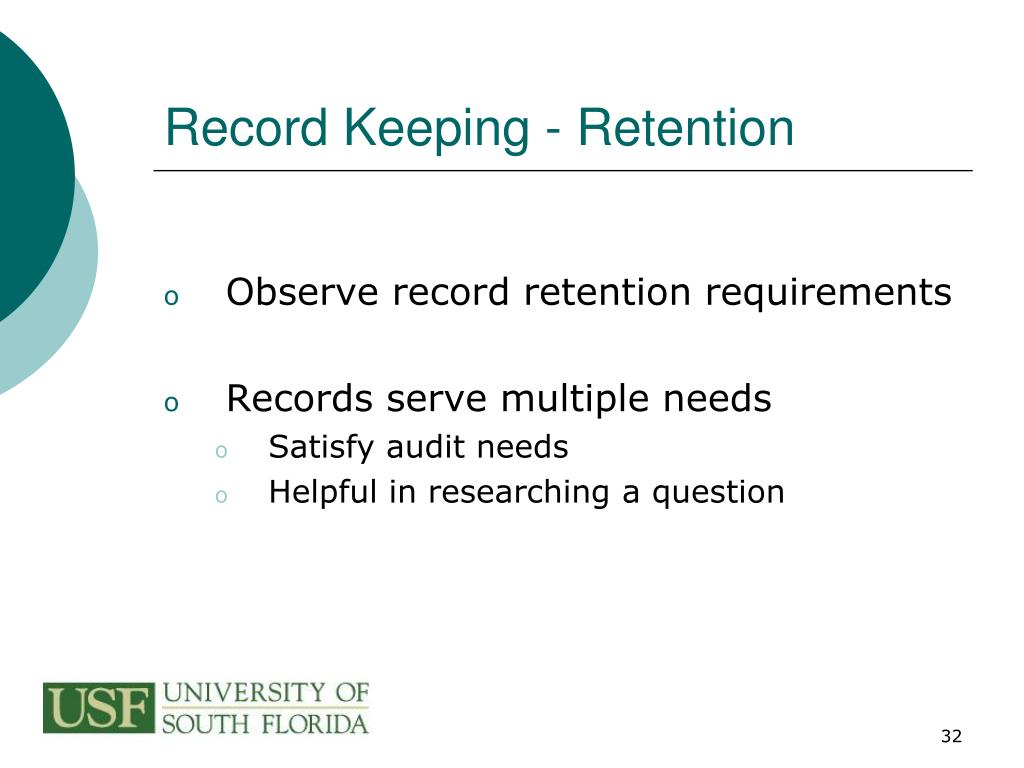 Record Keeping - Retention