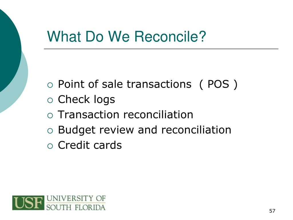 What Do We Reconcile?