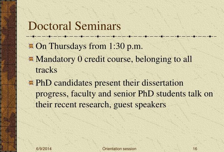 Doctoral Seminars
