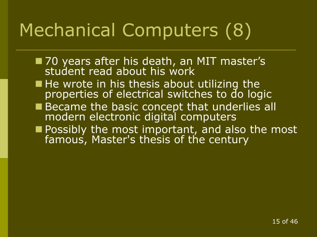 Mechanical Computers (8)