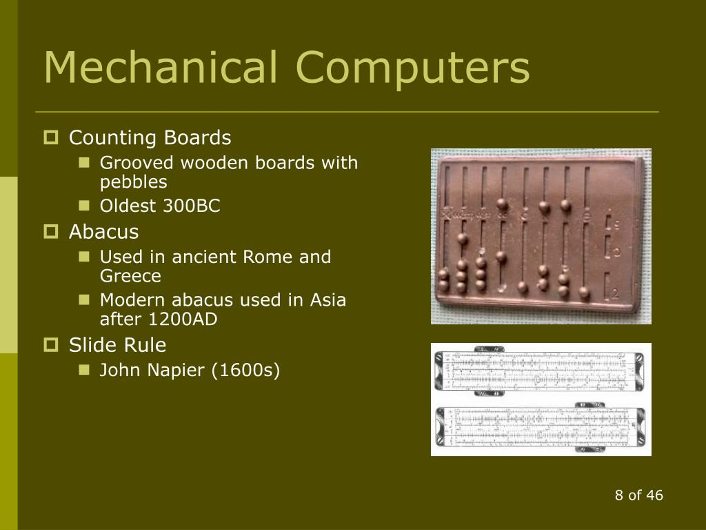 Mechanical Computers