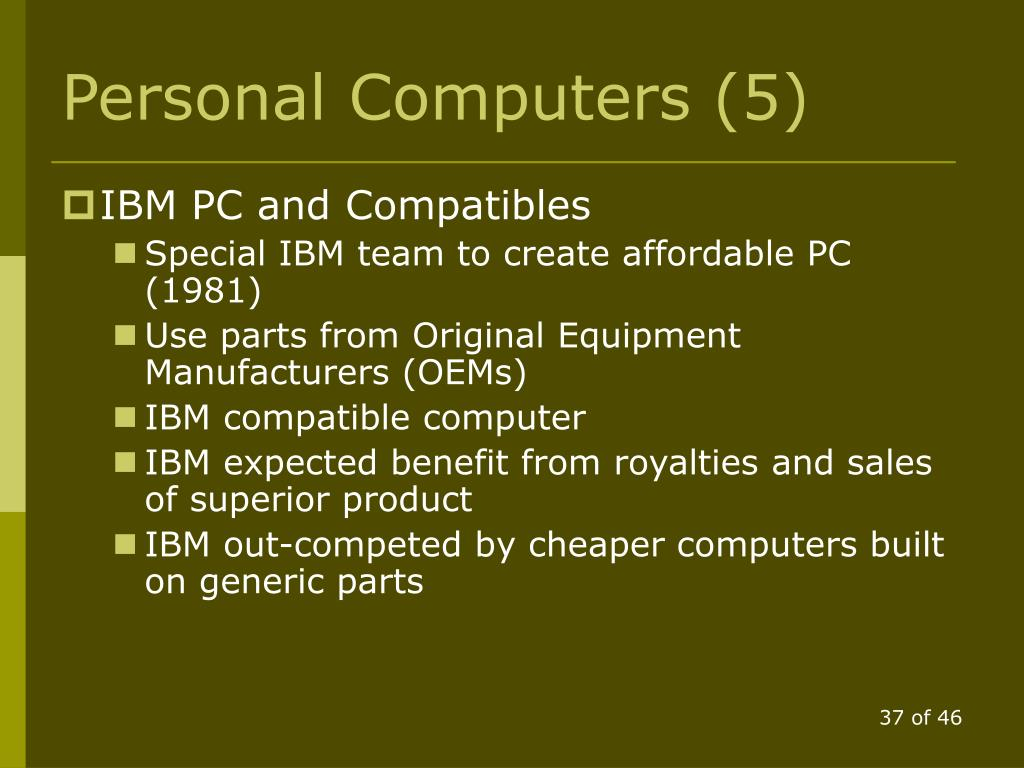 Personal Computers (5)