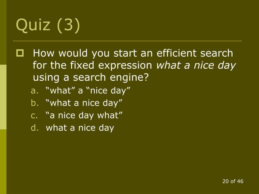 Quiz (3)