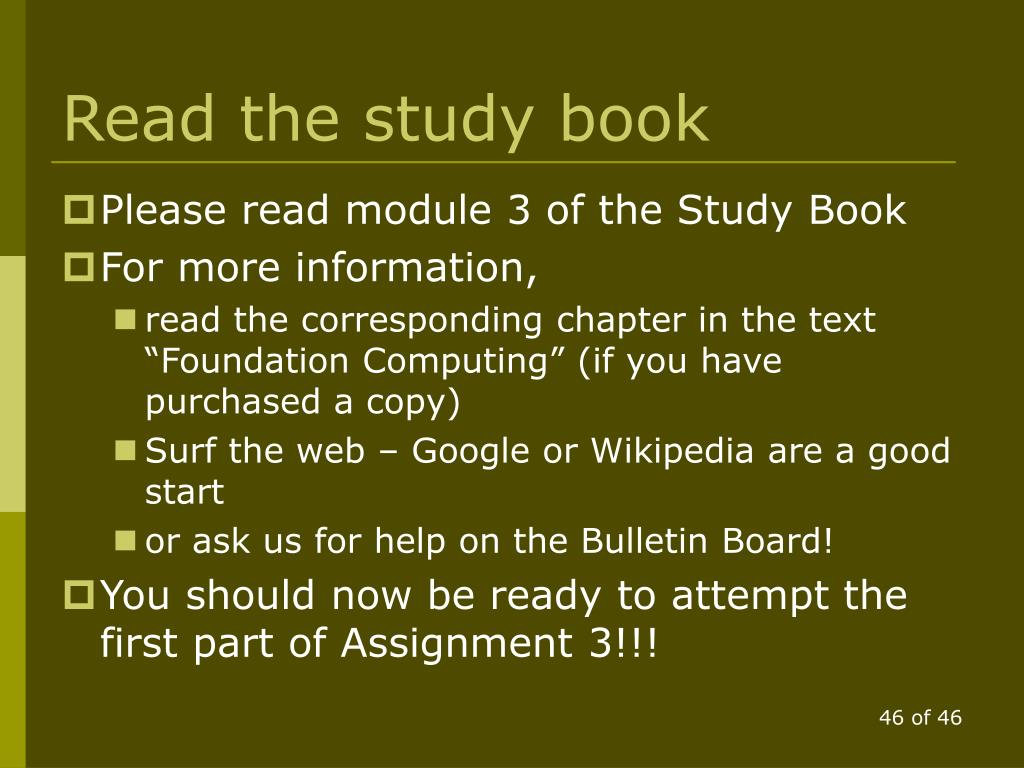 Read the study book
