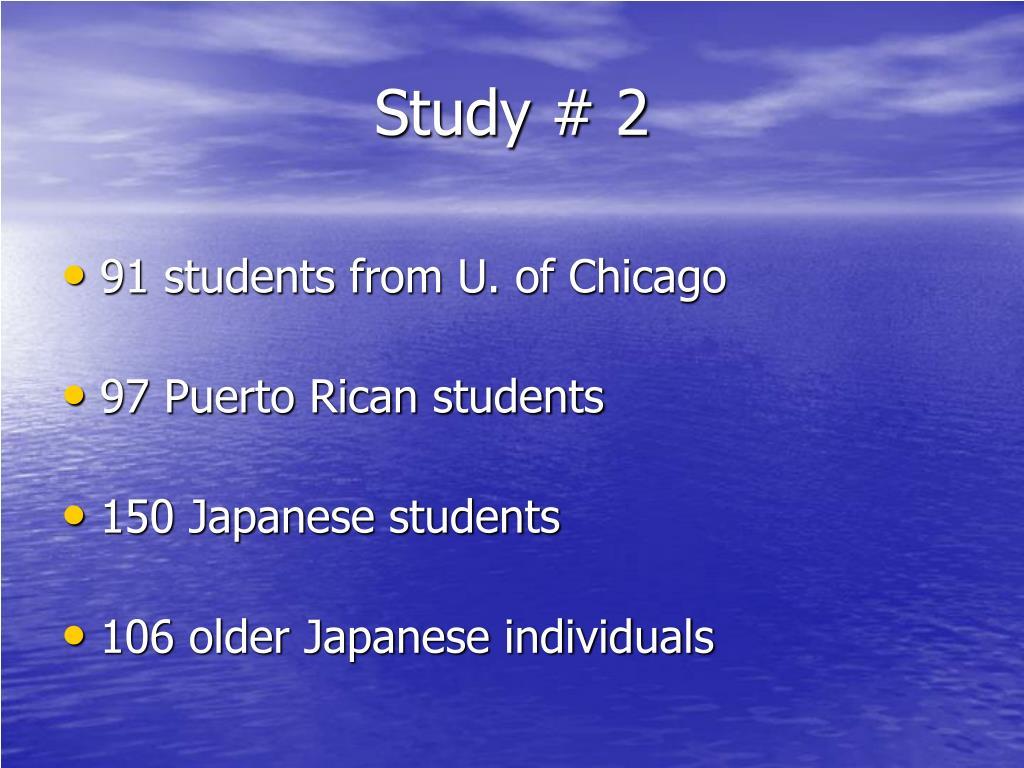 Study # 2