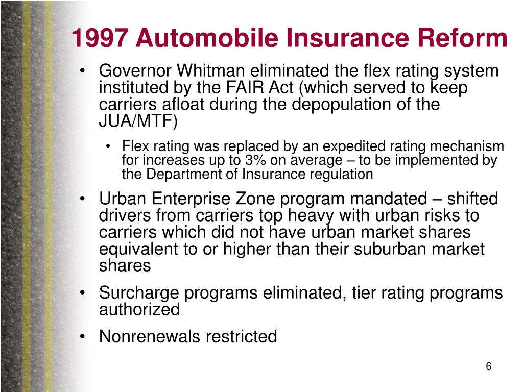 1997 Automobile Insurance Reform