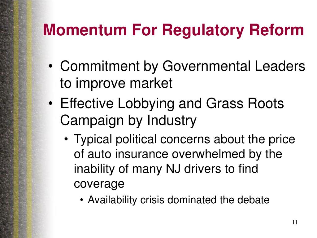 Momentum For Regulatory Reform