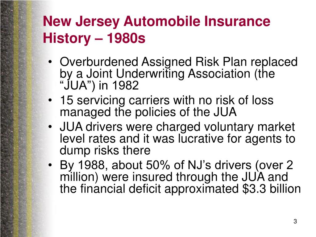 New Jersey Automobile Insurance History – 1980s