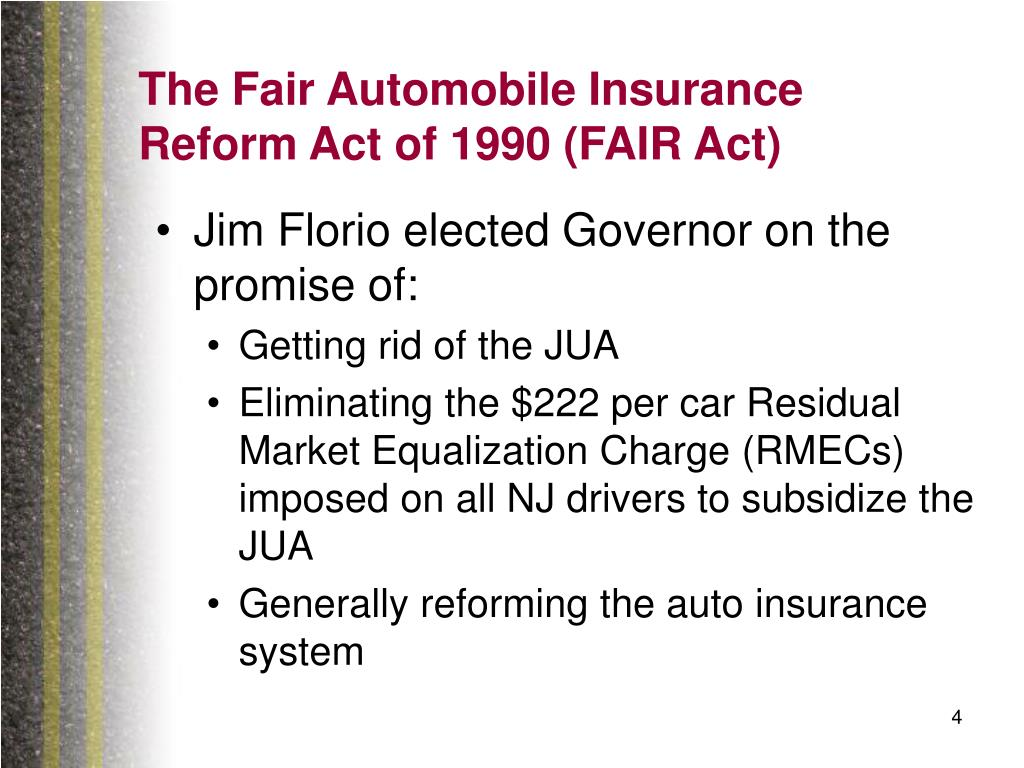 The Fair Automobile Insurance Reform Act of 1990 (FAIR Act)