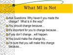 what mi is not p 21