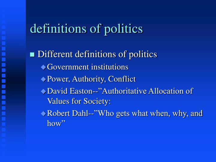 Definitions of politics