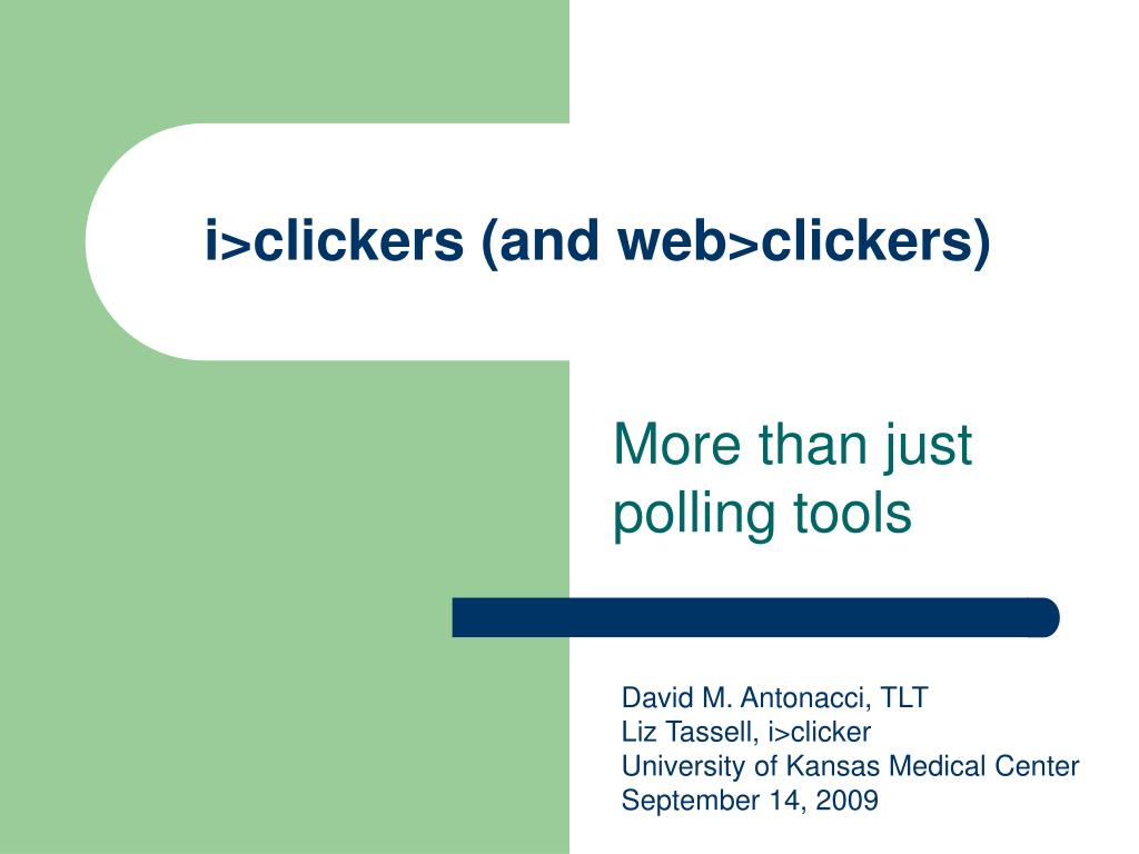 i clickers and web clickers