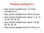 practice writing for s