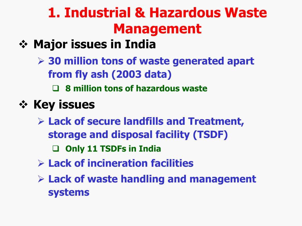 1. Industrial & Hazardous Waste Management