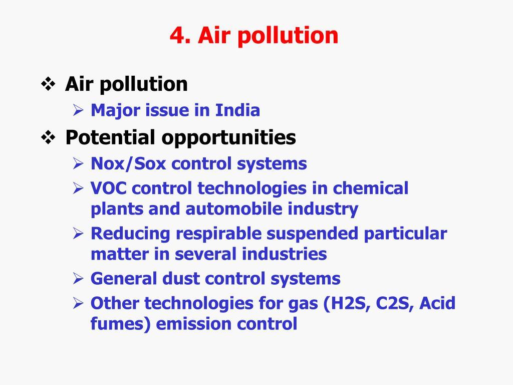 4. Air pollution
