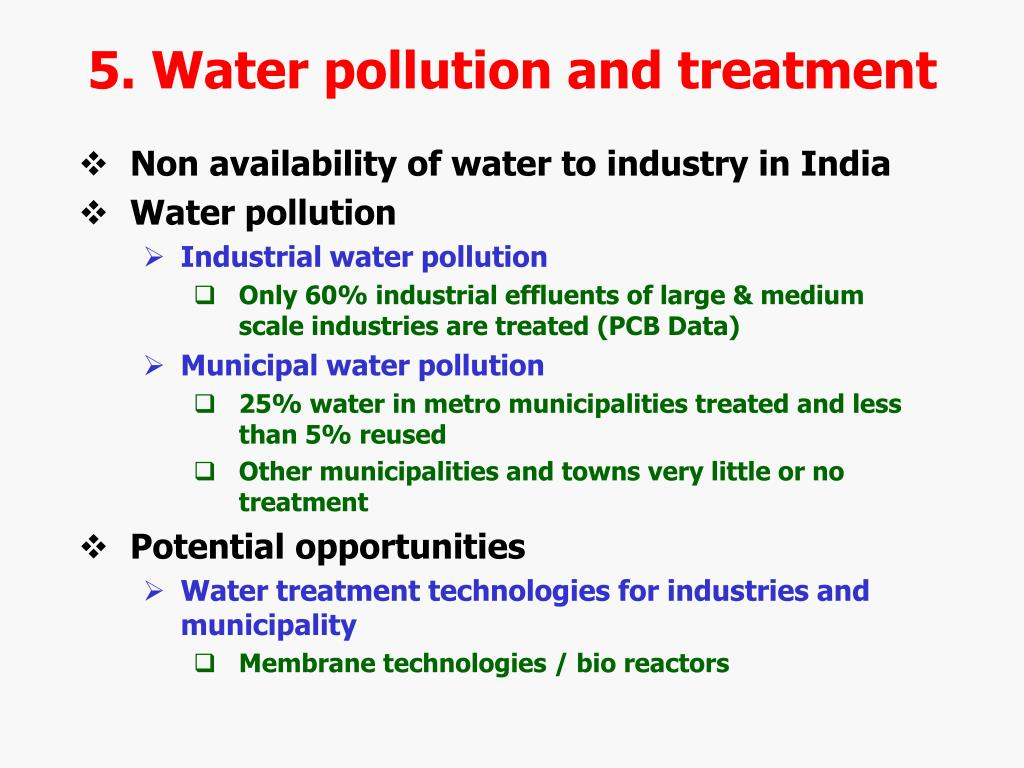 5. Water pollution and treatment