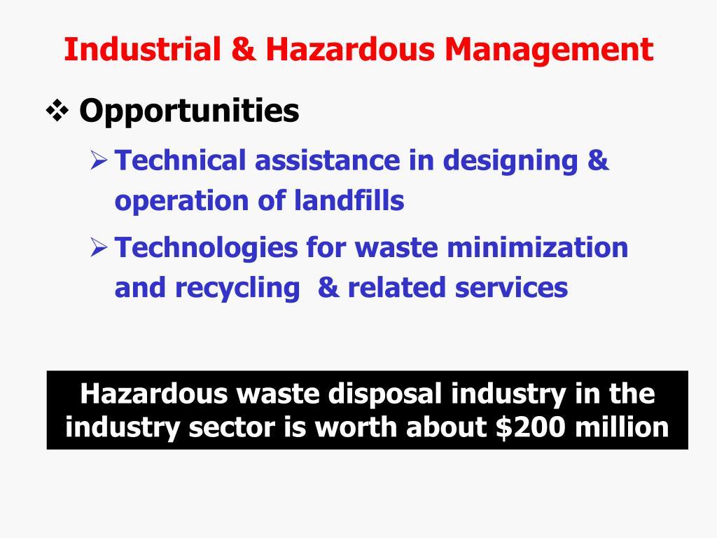 Industrial & Hazardous Management