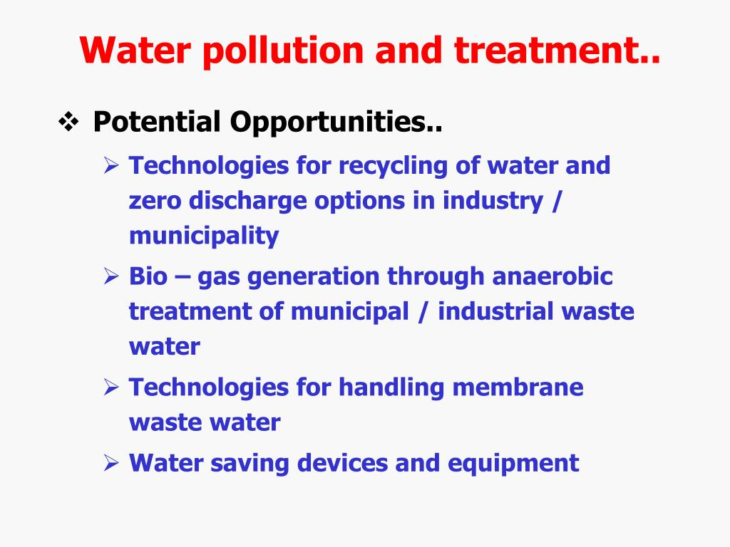 Water pollution and treatment..