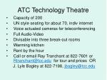 atc technology theatre