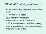 what atc at virginia beach