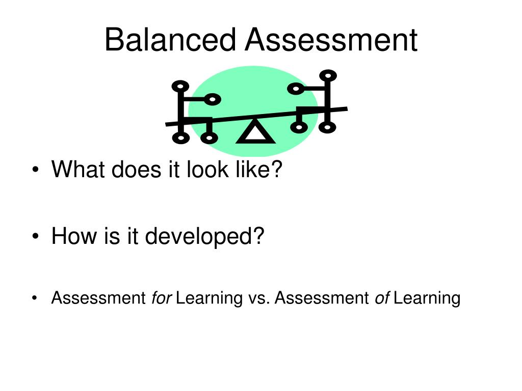 Balanced Assessment