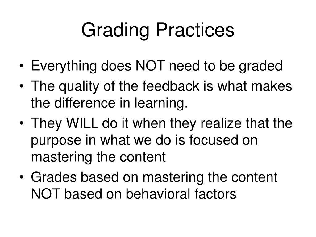 Grading Practices