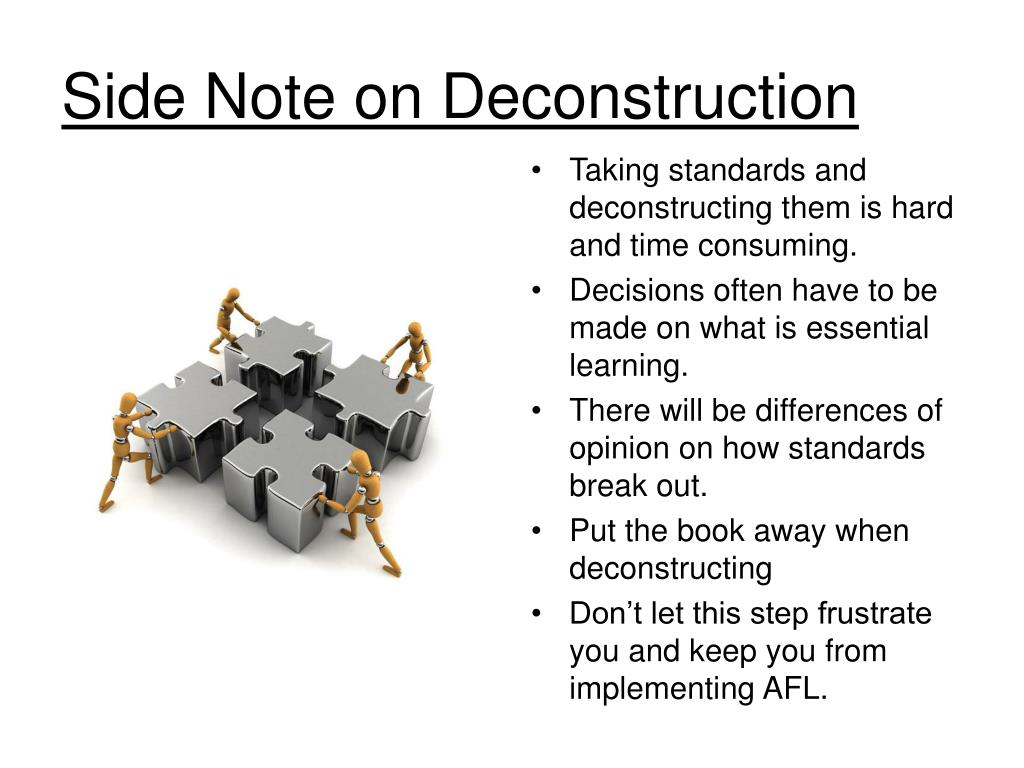 Side Note on Deconstruction