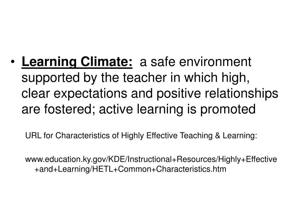 Learning Climate: