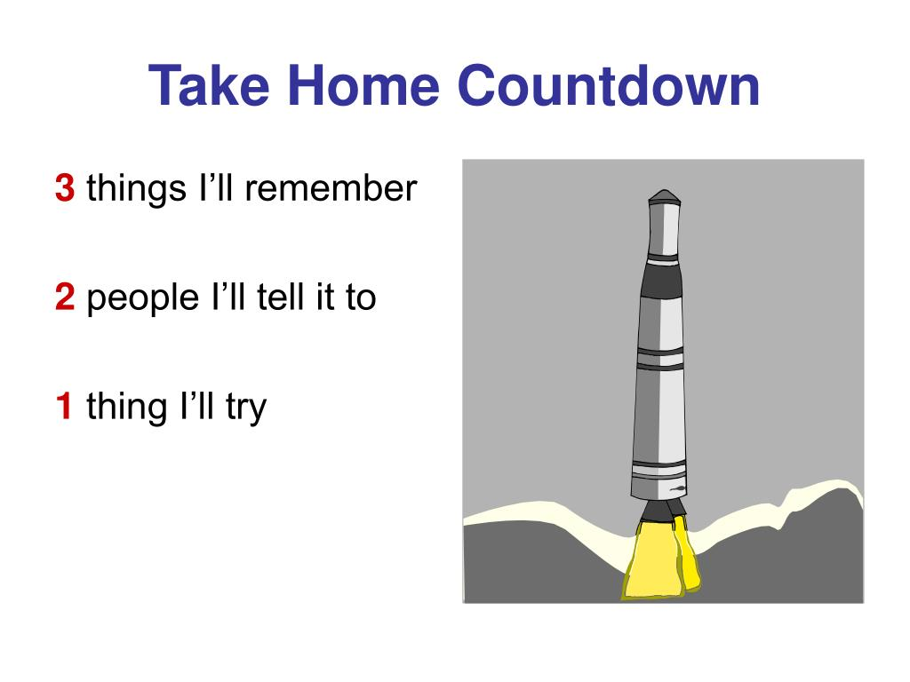 Take Home Countdown