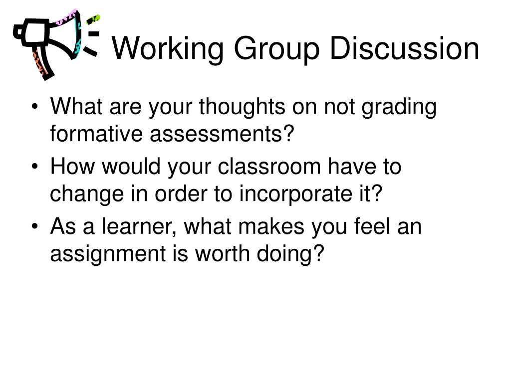 Working Group Discussion