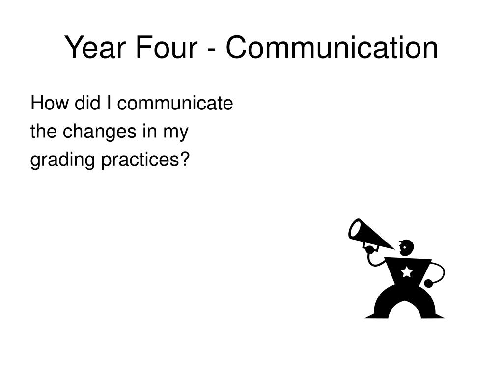 Year Four - Communication