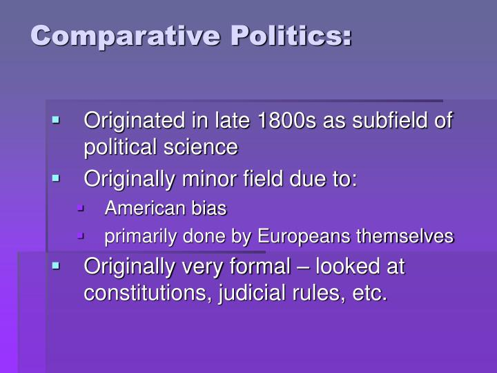 Comparative Politics: