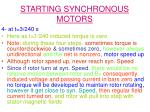 starting synchronous motors12