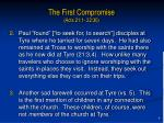 the first compromise acts 21 1 22 304