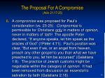 the proposal for a compromise acts 21 17 2513