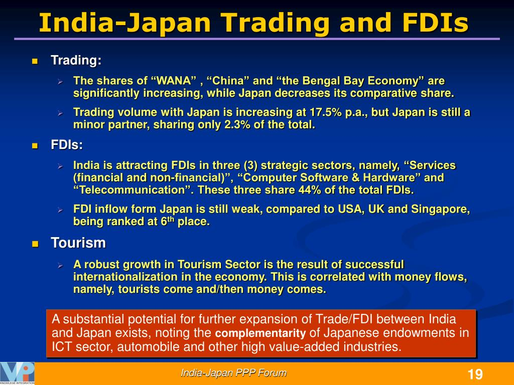 India-Japan Trading and FDIs