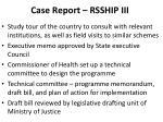 case report rsship iii