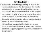 key findings ii