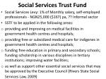social services trust fund