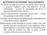 keynesian economic management