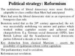 political strategy reformism