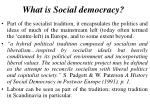 what is social democracy