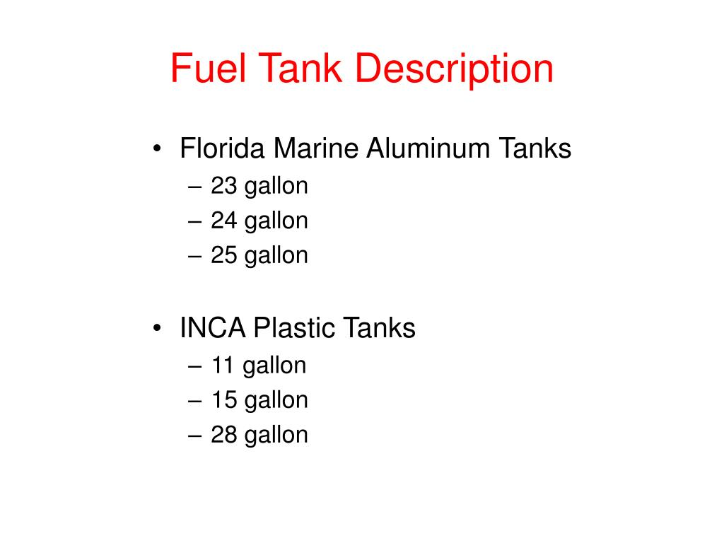 Fuel Tank Description