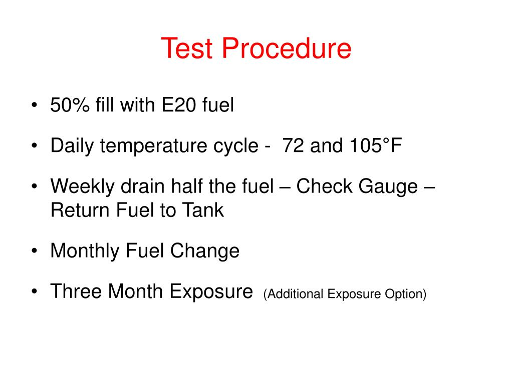 Test Procedure